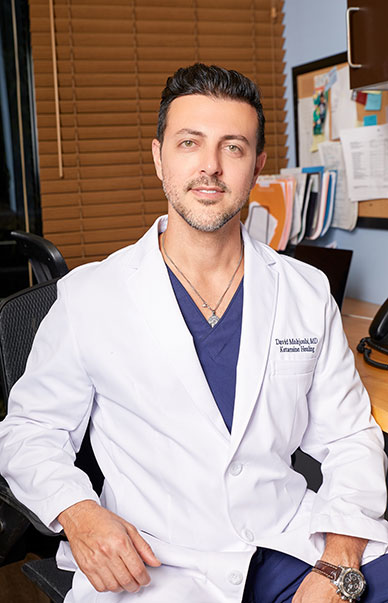 Los Angeles, CA Dr. David Mahjoubi at IV Healing Spa office.
